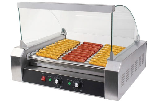 Safstar Commercial Hot Dog Grill Machine with Cover