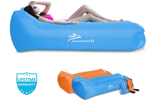Jasonwell Inflatable Lounger Portable Waterproof Air Sofa Lounge Chair Bag