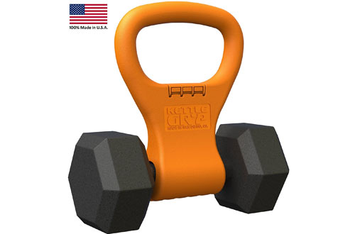 Kettle Gryp Kettlebell Adjustable Portable Weight Grip Travel Workout Equipment Gear for Gym Bag