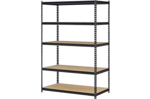 Edsal URWM184872BK Black Steel Storage Rack