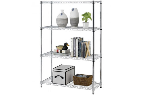 "BestOffice 36""x14""x54"" 4 Tier Layer Shelf Adjustable Steel Wire Metal Shelving Rack"