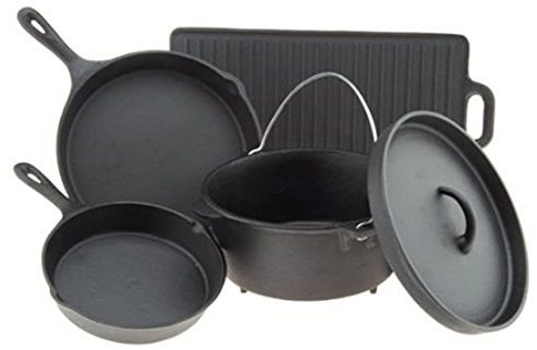 Outdoor Gourmet 5 Piece Cast Iron