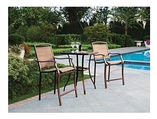 Piece Bar Height Bistro Table Chair Set Patio Furniture Outdoor New Deck Backyard