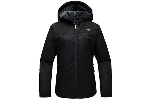 Wantdo Women's Hooded Mountain Ski Jacket