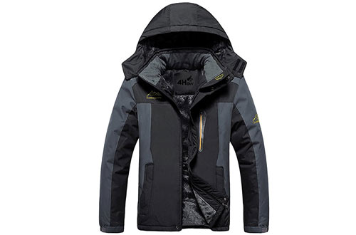 Waterproof Hooded Fleece Ski Coat