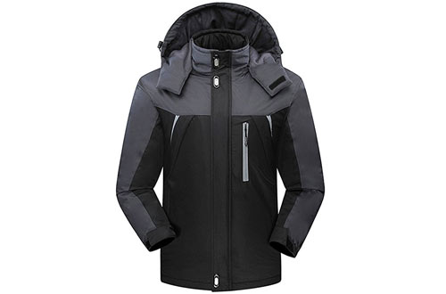 CROTI Men's Windproof Fleece Ski Jackets