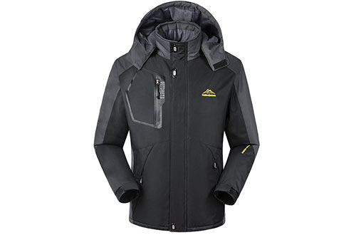 iLove SIA Men's Mountain Waterproof Fleece Ski Jacket