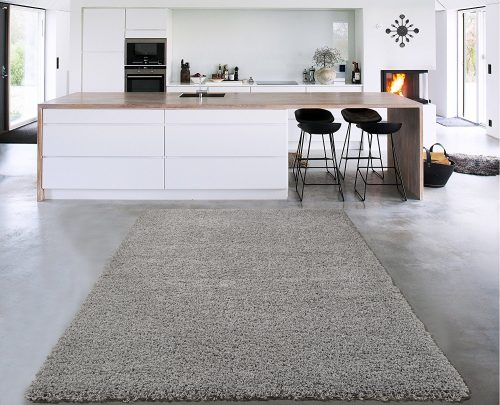 Sweet Home Stores Cozy Shag Collection Solid Design Shag Area Rug, 7'10'' x 9'10'', Grey-Throw Rugs