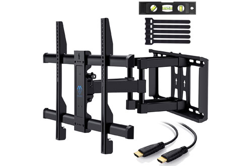 PERLESMITH TV Wall Mount Bracket Full Motion Dual Articulating Arm