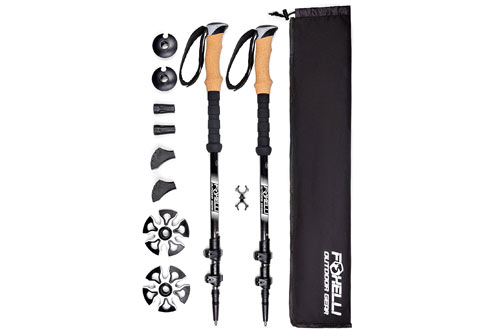 Foxelli Collapsible and Lightweight Trekking Poles