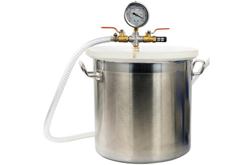 Yaetek 5 Gallon Stainless Steel Vacuum Degassing Chamber