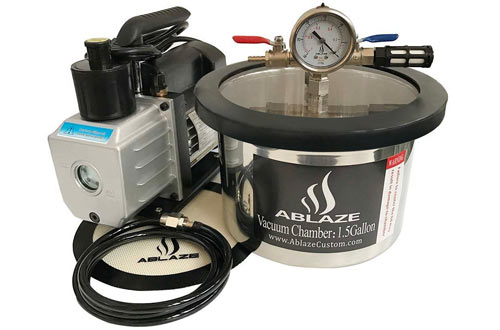 ABLAZE 1.5 Gallon Stainless Steel Vacuum Degassing Chamber