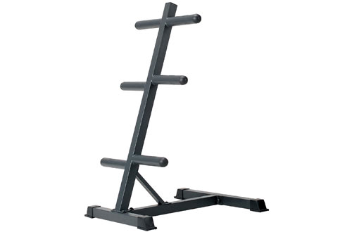 Marcy Olympic Weight Plate Tree Compact Exercise Equipment Storage Rack