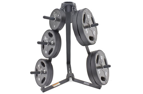 Marcy Plate Tree for Standard Size Weight Plates/Storage Rack for Exercise Weights