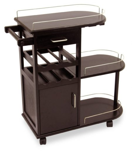 Winsome Wood Entertainment Cart, Espresso-Bar Carts