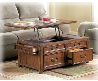 Woolwich Trunk Coffee Table with Lift Top - Accent Furniture -Framed drawer fronts-