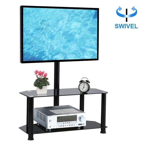 Yaheetech 2 Tier Black Swivel Cantilever TV Stand Mount