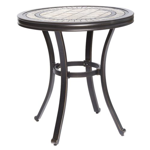 dali Handmade Bistro Table Contemporary Round a Tile-Top Design With Heavy-Duty Aluminum Frames 28