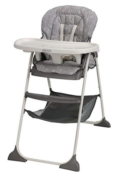 1. Graco Whisk Slim Snacker High Chair