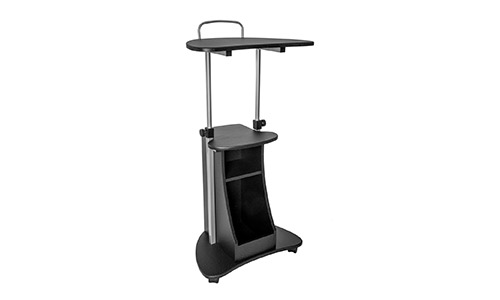 7. Sit-to-Stand Rolling Adjustable Height Laptop Cart