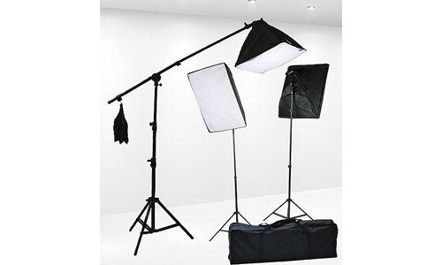 4. Fancierstudio Lighting Kit 2400 Watt Professional Video Lighting Kit