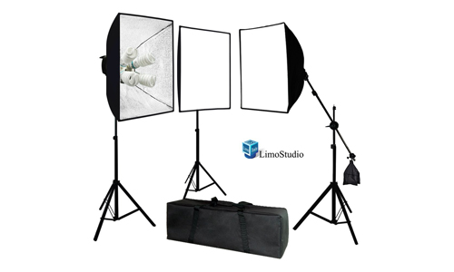 2. LimoStudio Photo Video Studio 2400 Watt Softbox Continuous Light Kit