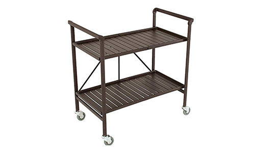 1. Cosco Indoor or Outdoor Folding, Metal, Rolling Serving Cart