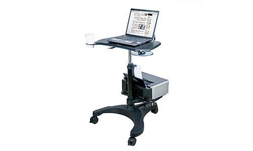 1. Aidata Ergonomic Sit-Stand Mobile Laptop Cart Work Station