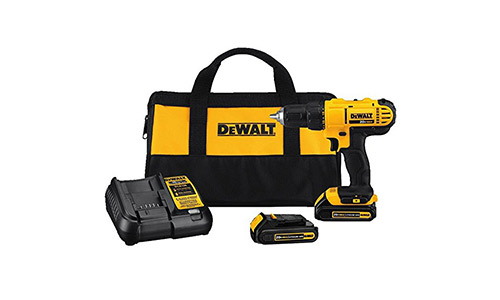 10. Dewalt DCD771C2 20V MAX Cordless Lithium-Ion 1/2 inch Compact Drill Driver Kit