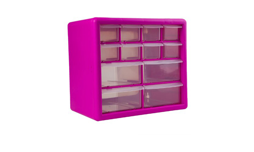 3. The Original Pink Box PB12SPB 12-Drawer Small Parts Organizer