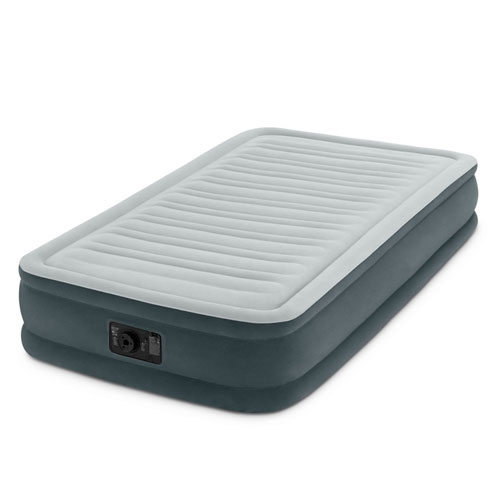 """Intex Recreation Comfort-Plush Mid Rise Dura-Beam Airbed with Built-in Electric Pump, Bed Height 13"""", Twin"""