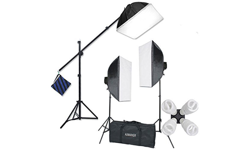 7. StudioFX H9004SB2 2400 Watt Large Photography Softbox Continuous Photo Lighting Kit
