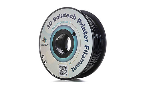 8. 3D Solutech Real Black 3D Printer PLA Filament