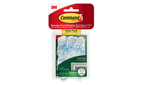 6. Command Outdoor Light Clips Value Pack, Clear, 32-Clips (17017CLRAWVPES)
