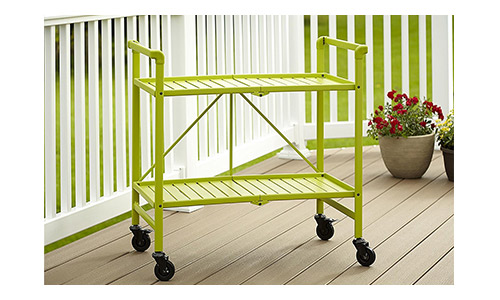 4. Cosco Indoor or Outdoor Folding, Metal, Rolling Serving Cart