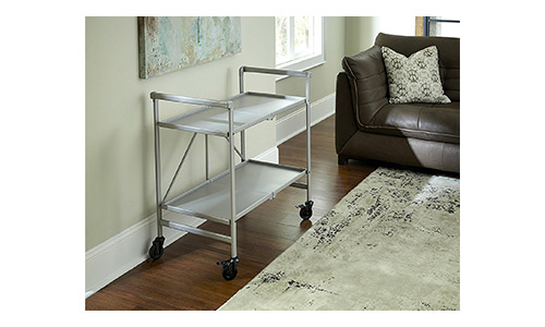 3.Cosco Indoor or Outdoor Folding, Metal, Rolling Serving Cart