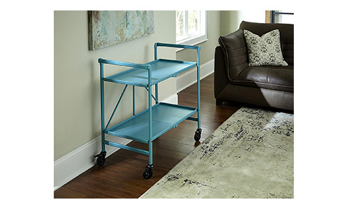 10. Cosco Indoor or Outdoor Folding, Metal, Rolling Serving Cart