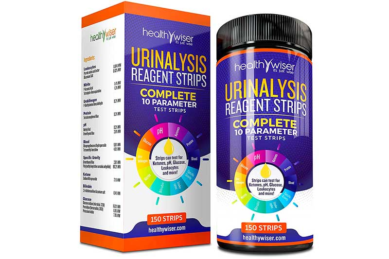 10 Parameter Urinalysis Test Strips 150ct, Urinary Tract Infection Strips (UTI) Urine Test Strips Test Glucose, Ketone, pH, Protein, And More