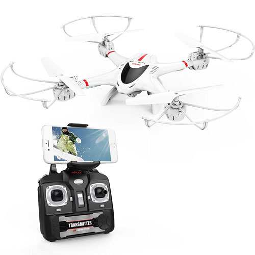 DBPOWER MJX X400W FPV Drone with Wifi Camera Live Video Headless Mode 2.4GHz 4 Chanel 6 Axis Gyro RTF RC Quadcopter