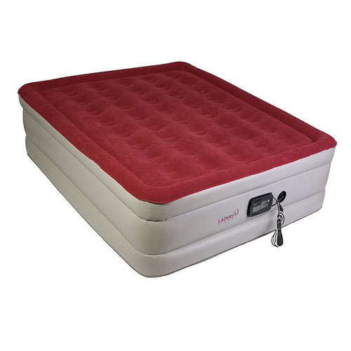 Lazery Sleep Air Mattress – Raised Electric Airbed With Built-In Pump & Carry Bag