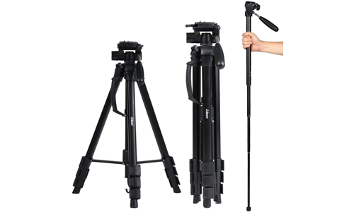 2. Albott 70 Inch Digital SLR Camera Aluminum Travel Portable Tripod Monopod