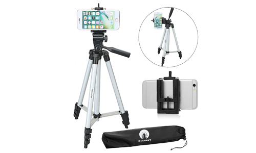 7. DIGIANT 50 Inch Aluminum Camera Phone Tripod