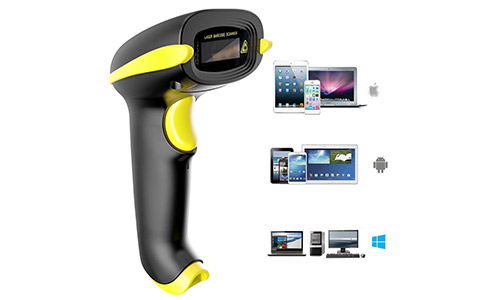6. NADAMOO 2-In-1 Bluetooth and 2.4GHz Wireless Barcode Scanner.