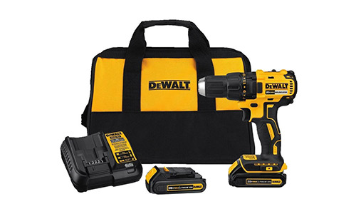 9. DEWALT DCD777C2 20V Max Lithium-Ion Brushless Compact Drill Driver