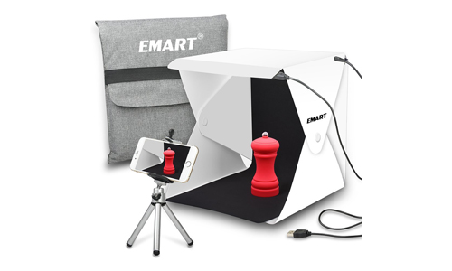 1. Emart Upgraded 40 LED Foldable & Portable Photo Lighting Studio Shooting Tent Box Kit