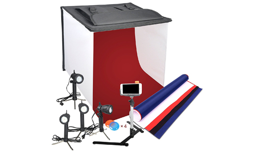 3. Emart Photography 24 x 24 Inches Table Top Photo Studio Continous Lighting LED Light Shooting Tent Box Kit
