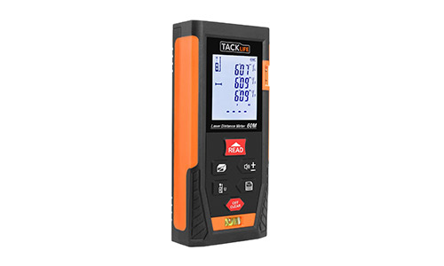8. Tacklife HD60 Classic Laser Measure 196Ft M/In/Ft Mute Laser Distance Meter