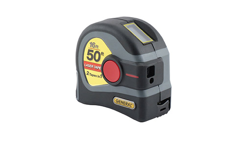 4. General Tools LTM1 2-in-1 Laser Tape Measure, 50' Laser Measure