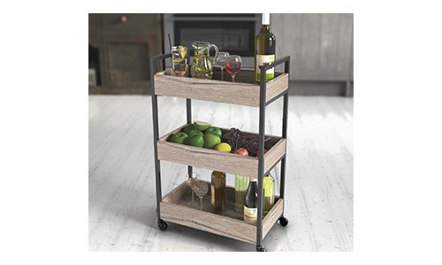 2. Roomfitters 3 Tier Rolling Utility Storage Cart
