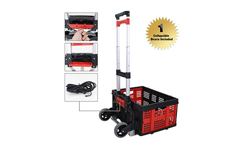 1. Finether Cart Aluminum Folding 2-wheel Hand Cart Lightweight Portable Hand Truck/Dolly